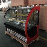 Showcase comercial do bolo com vidro curvado (G760A-W)