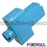 Adaptateur hybride LC de fibre optique au simplex bleu en plastique de FC