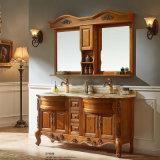 Европейский покрашенный шкаф тщеты хранения ванной комнаты красного дуба (GSP14-008)