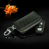 Custom Multiple Portable Compact Fancy Smart Carbon Fibre Geunie Leather Car Key Holder