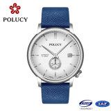 Montres-bracelet mécaniques de quartz des montres simples des hommes faits sur commande de qualité d'usine