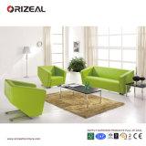 O sofá comercial do couro do escritório do verde de cal de Orizeal ajustou-se (OZ-OSF016)