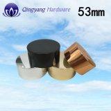クリーム色のびんの瓶のための53mmのアルミニウム高い帽子