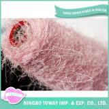 Lado do Cone Homespun Tingidos de filamentos de poliéster Boucle Fios de seda