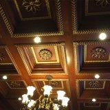 Сдобренные потолки живущий Teak комнаты декоративного деревянные (GSP11-012)