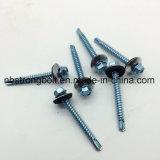 "C1022 Steel Harden Auto Drilling Parafusos Sextavado. Cabeça de lavagem com anilha (metal/EPDM OD 16 mm) Bsd #3 12- 14 PT Perfure Zincado #12-14x2"" digite AB"