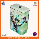 Kundenspezifisches Tee-Transportgestell, Tee-Zinn-Behälter, Tee-Metalldose, Metallgeschenk-verpackenkasten für Tee