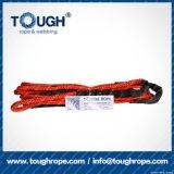 Fibra 100% resistente de Uhwmpe da corda da corda sintética do guincho Orange10.5mmx28m4X4