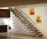 Balustrade intérieure personnalisée de pêche à la traîne d'escalier de modèle