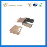 Caisse d'emballage de papier de cadeau de qualité pour des vêtements (avec le guichet clair de PVC)