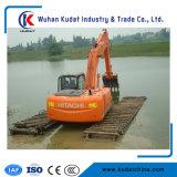 Hydraulikpumpe-amphibischer Exkavator im Fluss