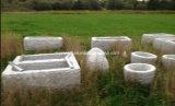 Granit-Blumen-Potenziometer, Garten-Steinpflanzer und Stein-Vase