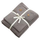 ホテルのためにセットされる工場供給の綿のブラウンの寝具