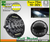 ジープのための12V/24Vラングラー置換のヘッドライト7のインチ75W