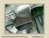Dekorative Stahlrohrleitung des rechteckigen Edelstahl-201