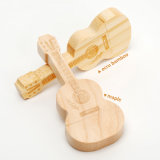 Regalo promozionale di marchio della chitarra del USB del bastone dell'azionamento di legno dell'istantaneo