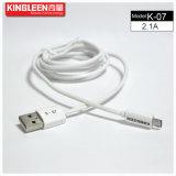 Cabo de dados K-07 modelo 1.2m de Kingleen micro 5V2.1A  para Samsung/HTC