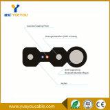 Tipo de tela plana 2 núcleos FTTH monomodo de cabo de fibra óptica para Interior/Exterior