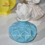 Hornilla de cerámica Aromatherapy  Sostenedor de la fragancia de Tealight del difusor con Flower/B