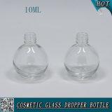 Овальная форменный прозрачная стеклянная бутылка 10ml сока бутылки e капельницы эфирного масла