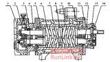 Pompe de vis/double pompe de vis/pompe de vis jumelle/Pump/2lb2-300-J/300m3/H d'essence et d'huile