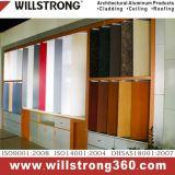 Panneau composite aluminium finition argentée pour mur-rideau