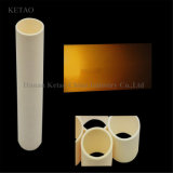 tubo filettato allumina 99.7% di 95% che filetta i tubi di ceramica dell'allumina di ceramica dei tubi 95% 99% dell'allumina