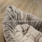半月の形の柔らかいプラシ天の円形の飼い犬のベッドペットトイドッグの製品