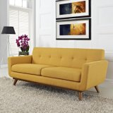 Sofà moderno della casa della mobilia con colore giallo sezionale del sofà del tessuto