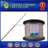 fio UL5334 trançado isolado da fibra de vidro do condutor niquelar 24AWG mica pura