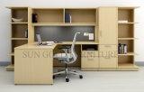 Moderne Ecke L Form-Computer-Schreibtisch Belüftung-Büro-Schreibtisch (SZ-ODT674)