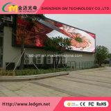 Parete di Digitahi di elettronica video, via che fa pubblicità al tabellone del LED P10