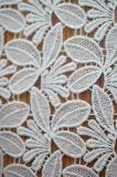 잎 패턴 디자인을%s 가진 폴리에스테 물 Soluable 레이스 직물