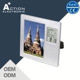 Большие декоративные часы цифров LCD рамки фотоего с температурой