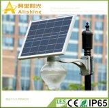 Sq-T12 9W 12W 18W Jardín de la energía solar con luces LED de batería de litio