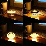 Recargables USB Sensor de movimiento Noche de Luz LED infrarrojos, UFO Lámpara de inducción del cuerpo humano 360 grados de rotación creativo inteligente de la luz de la noche Lampara de pared