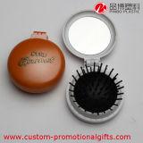 Commerce de gros miroirs pliable et compact avec mini-brosse à cheveux