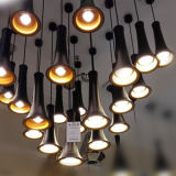 Modern Mini Black Aluminium Suspension LED Pendentif Suspension Lampes Lampes Eclairage pour Restaurant