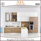 N&L MFCの安い組み立てユニット家具のカウンタートップの食器棚