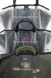 Novalty paste de Transparante Zuivere Regenjas van de Handtas van het Polyurethaan Pu met Zak aan