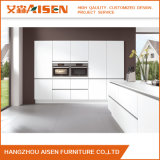 Laca branca personalizada que pinta o gabinete de cozinha moderno