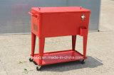 dispositivo di raffreddamento rosso del patio 80qt con il grande cassetto inferiore