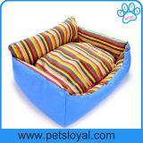Gestepptes Speicher-Schaumgummi-Vierecks-Haustier-Bett mit entfernbarer Einlage (HP-26)