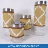 [4بكس] تصميم هندسيّة مستديرة مطبخ باستا عليبة زجاجيّة يثبت لأنّ طعام طازج