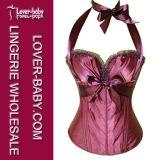Sex Lingerie Corset Broderie Bustier pour Femme (L42656-2)