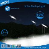 indicatore luminoso solare di notte della via LED dei prodotti del sensore 80W