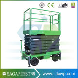 10m Electric Hydraulic Car Scaffolding Scissor Top spin