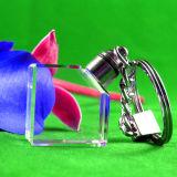 LED KristallKeychain GlasKeychain mit Firmenzeichen für förderndes Geschenk