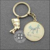 L'anello chiave di cuoio, oro ha placcato il metallo Keychain (GZHY-KA-070)