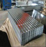 Los materiales de construcción galvanizaron la hoja acanalada del material para techos del cinc del metal